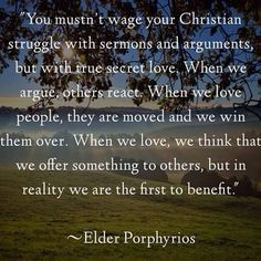 st. porphyrios quotes - Google Search
