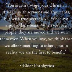 st. porphyrios quotes - Google Search