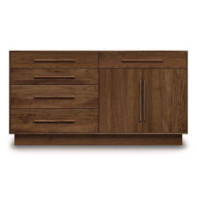 Copeland Furniture Moduluxe 5 Drawer Combo Dresser - http://delanico.com/dressers/copeland-furniture-moduluxe-5-drawer-combo-dresser-737182312/