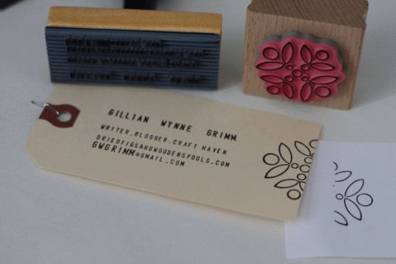 Love the idea of these handmade business cards.  They look cute and original!