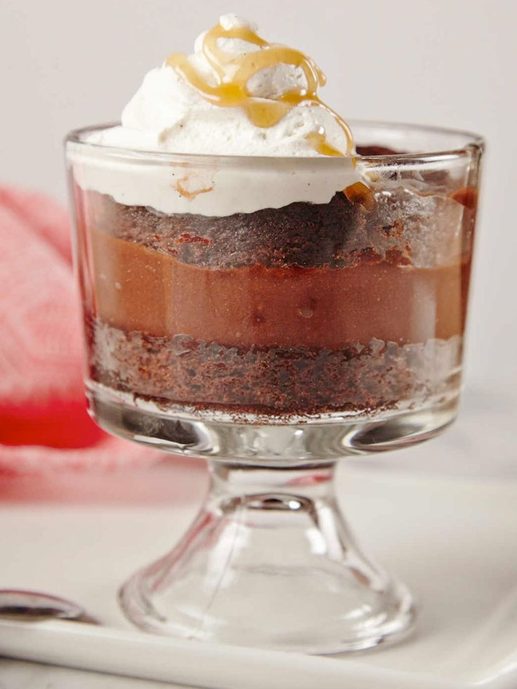 This layered dessert is a showstopper! Find this Salted Caramel Brownie Trifle here! http://www.joyofkosher.com/recipes/salted-caramel-brownie-trifle/