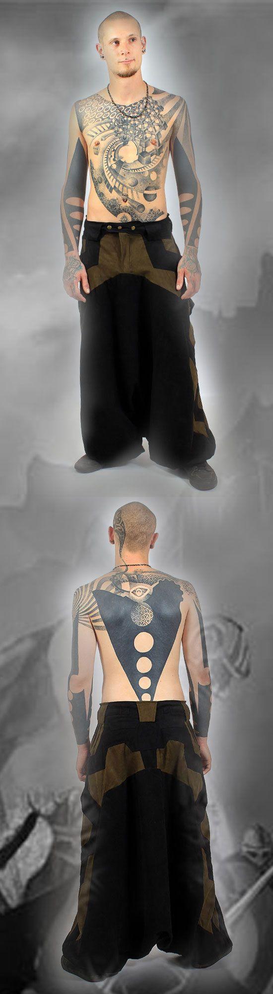Sarouel felpe cyber futuristic bohemian Dystopian Wasteland Fashion clothing