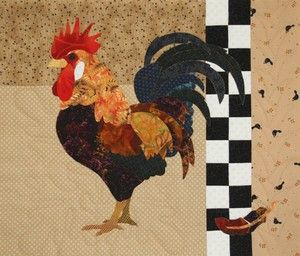 92 best Quilted chickens images on Pinterest | Roosters, Appliques ... : rooster quilt pattern - Adamdwight.com