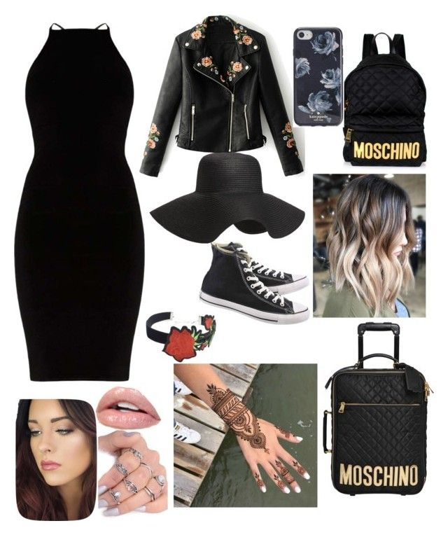 """""""Untitled #10"""" by ivanmadalina22 on Polyvore featuring Old Navy, Moschino, Converse, WithChic and Kate Spade"""