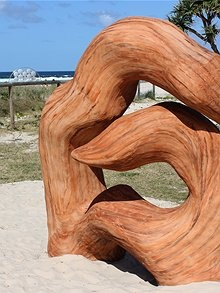 'Kindled Spirits' by Carmel Marsden exhibited at Swell Sculpture Festival 2011