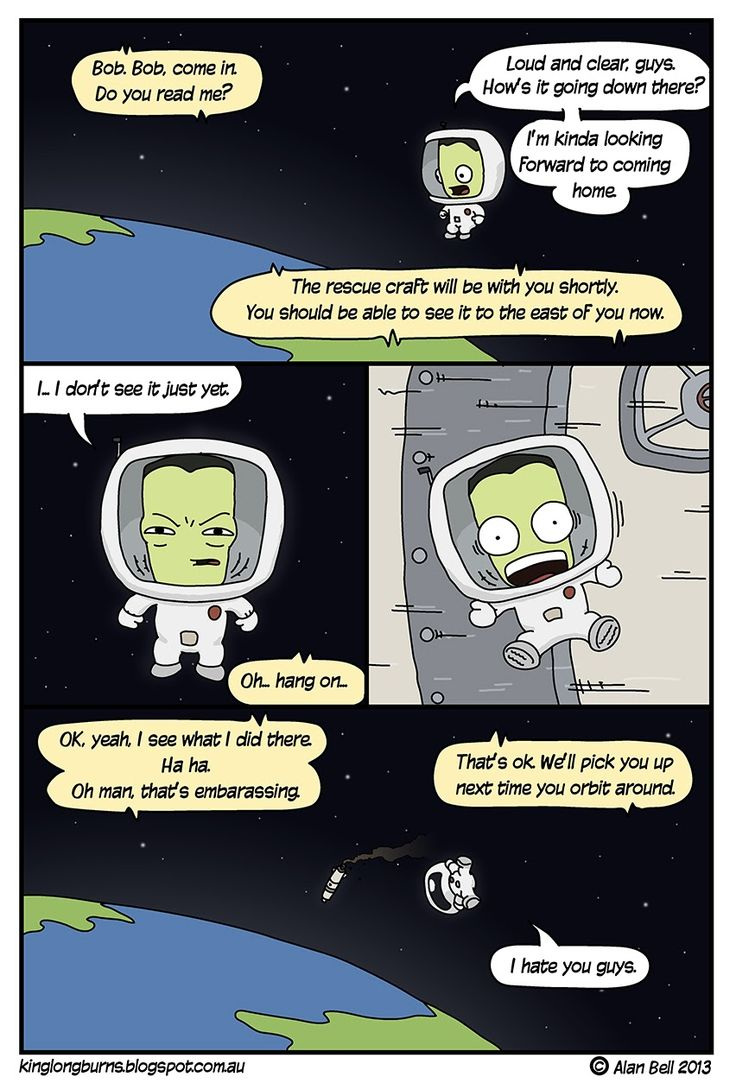 KIng Longburns & the Comics: Kerbal Space Rescue Program.