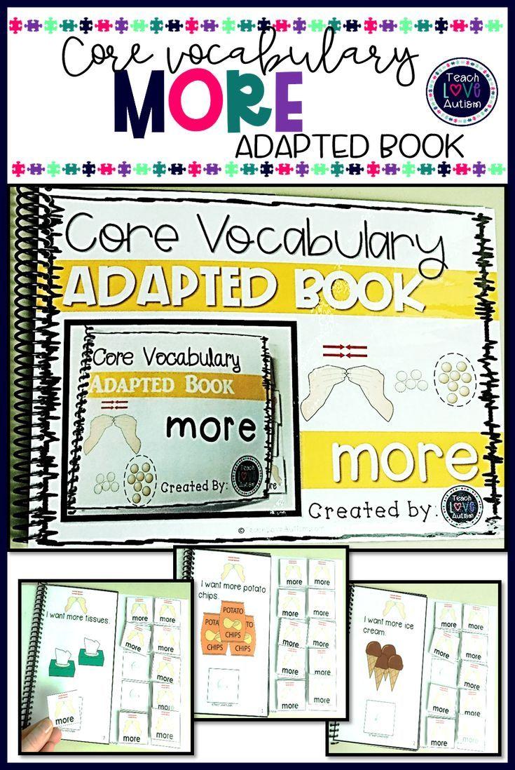 Core Vocabulary Adapted Book More Core Vocabulary Vocabulary