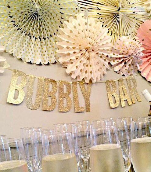 Wedding Banner Bachelorette Banner Gold Glitter Letter Banner Bubble Bar Candy Bar Champagne Bar Mimosa Bar Bridal Shower Decoration Sign by weddingbridaldesigns on Etsy https://www.etsy.com/au/listing/514114993/wedding-banner-bachelorette-banner-gold