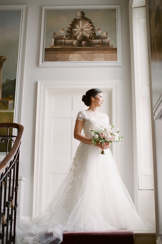 Elie Saab wedding dress - Elegant Dublin City Wedding at the Merrion Hotel | Brosnan Photographic