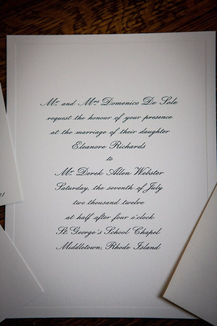 The Invitations Created By Smythson