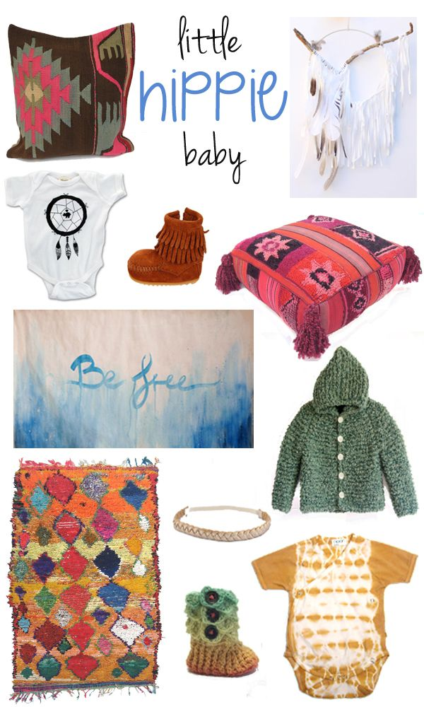 Bring out her inner hippie with these boho-inspired baby girl clothes and nursery finds!  #carouseldesigns #babygirl