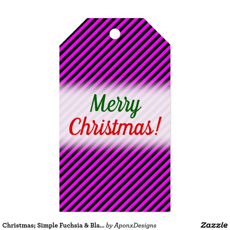 Christmas; Simple Fuchsia & Black Stripes Pattern