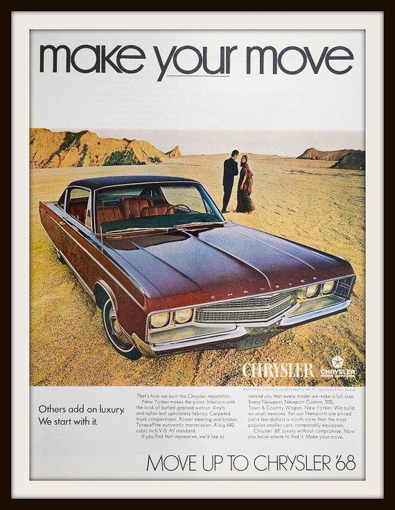 1967 Chrysler New Yorker Advertisement. by vintageadsnprints