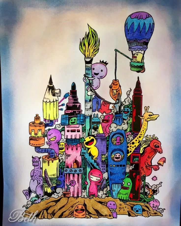 Amazon Doodle Invasion Zifflins Coloring Book Volume 1 9781492977056 Zifflin Kerby Rosanes Books By Customer On Mar 30 2016