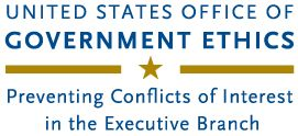United States Office of Government Ethics, Preventing Conflicts of Interest in the Executive Branch Endorsing Organizations, Products, or Persons February 25, 2016  Executive branch employees may not use their Government positions to suggest that the agency or any part of the executive branch endorses an organization (including a nonprofit organization), product, service, or person.