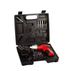4.8V electric screwdriver, rechargeable power hand drill cordless screwdriver , 45 pc set mini torque