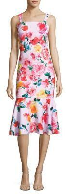 Laundry by Shelli Segal Floral-Print Trumpet Dress