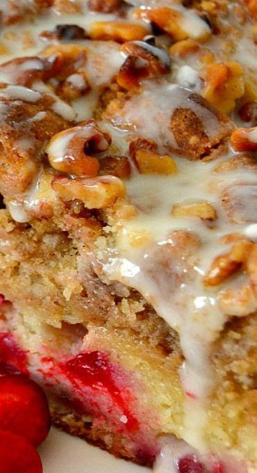 Cranberry Walnut Crumb Cake