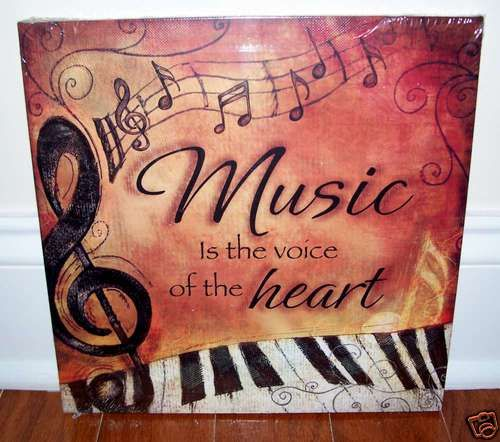 Piano Keyboard Music Is Voice Canvas 4 Your Home Interior Wall Art Decor New | eBay
