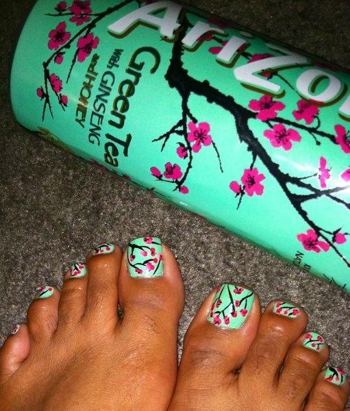 Arizona Green Tea Toes!