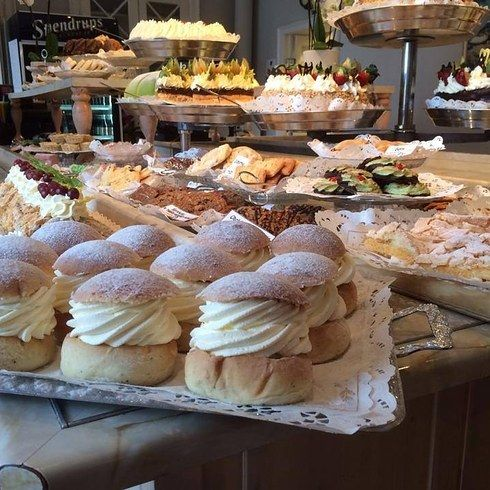 Taxinge Slott Cafe in Nykvarn, Sweden. It's a cake buffet...attached to a castle! WooHoo! 25 Bakeries Around The World You Have To See Before You Die