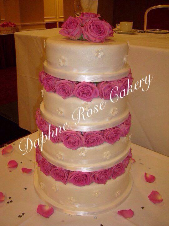 #aqua #roses #4tiers #weddingcake  email enquiries drcakery@gmail.com based in Dartford, Kent, UK