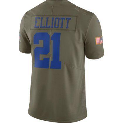 Dallas Cowboys Ezekiel Elliott  21 Nike Limited Salute To Service Jersey d3a500692
