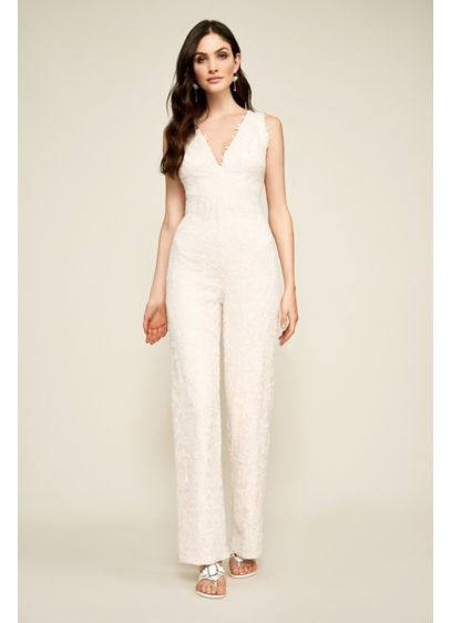 4d53d1b7221 Arden Lace Jumpsuit AVM17381BR. Arden Lace Jumpsuit AVM17381BR Long Wedding  Dresses