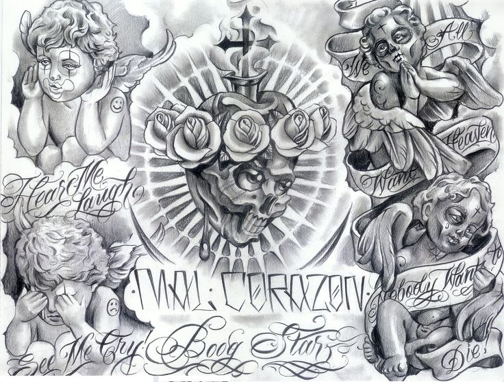 Gangster Tattoo Flash | Gangster tattoo fonts 489 : Image Gallery 905 | Amazing Tattoo Design