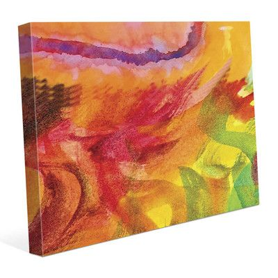"""Click Wall Art 'Lumaca' Print of Painting on Wrapped Canvas Size: 11"""" H x 14"""" W x 1.5"""" D"""