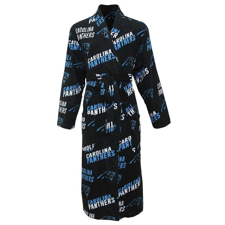 Carolina Panthers Wildcard Microfleece Bathrobe in Black
