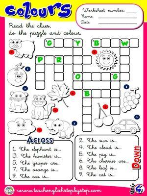 Colours - Worksheet 3