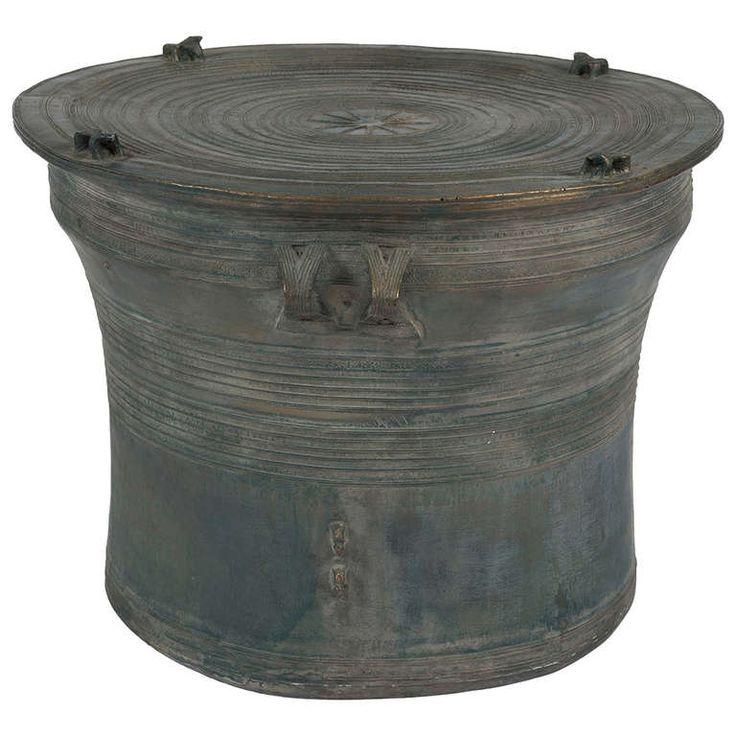 Vintage Asian Bronze Rain Drum Pictures