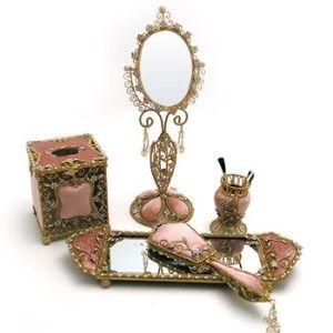 victorian style vanity set. Victorian Style Vanity Set  Tea Rose Velvet Tabletop Collection 129 best Sets images on Pinterest set