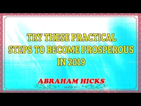 Abraham Hicks 2019 | MONEY | TRY THESE PRACTICAL S…