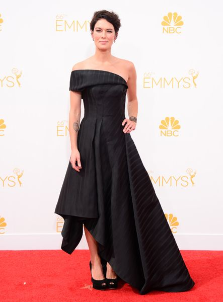 Lena Headeyof Game of Thronesarrives at the 66th Emmys.