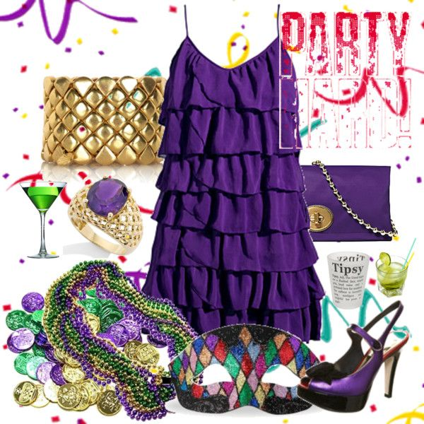mardi gras party - Party outfit for Mardi Gras (What to wear - Mardi Gras)