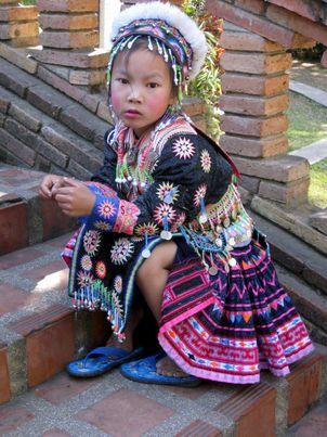 Hmong handgeborduurde klederdracht