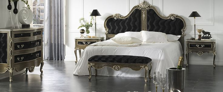 champagne gold finish bedroom | ... . Finished in an antique champagne and upholstered in black velvet