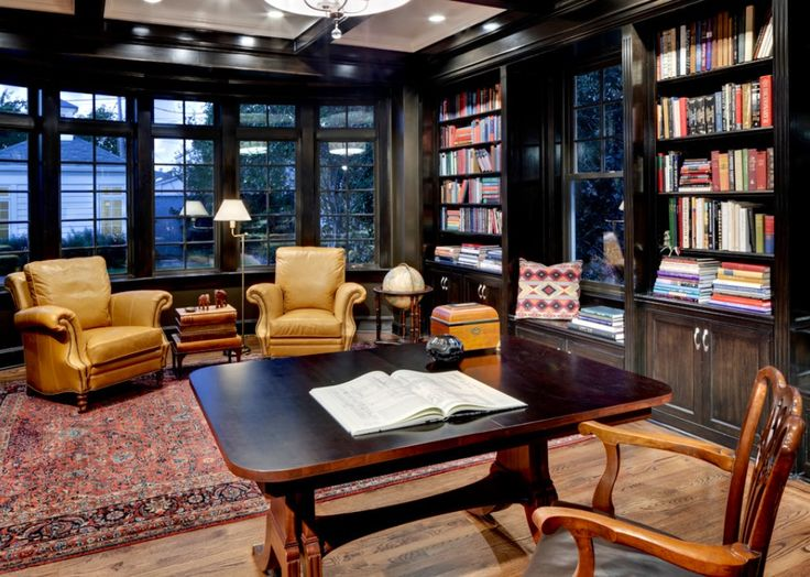 Cozy workspace   University   traditional   home office   dallas    Domiteaux   Baggett Architects  PLLC38 best Office images on Pinterest   Office designs  Office ideas  . Luxury Home Office Design. Home Design Ideas