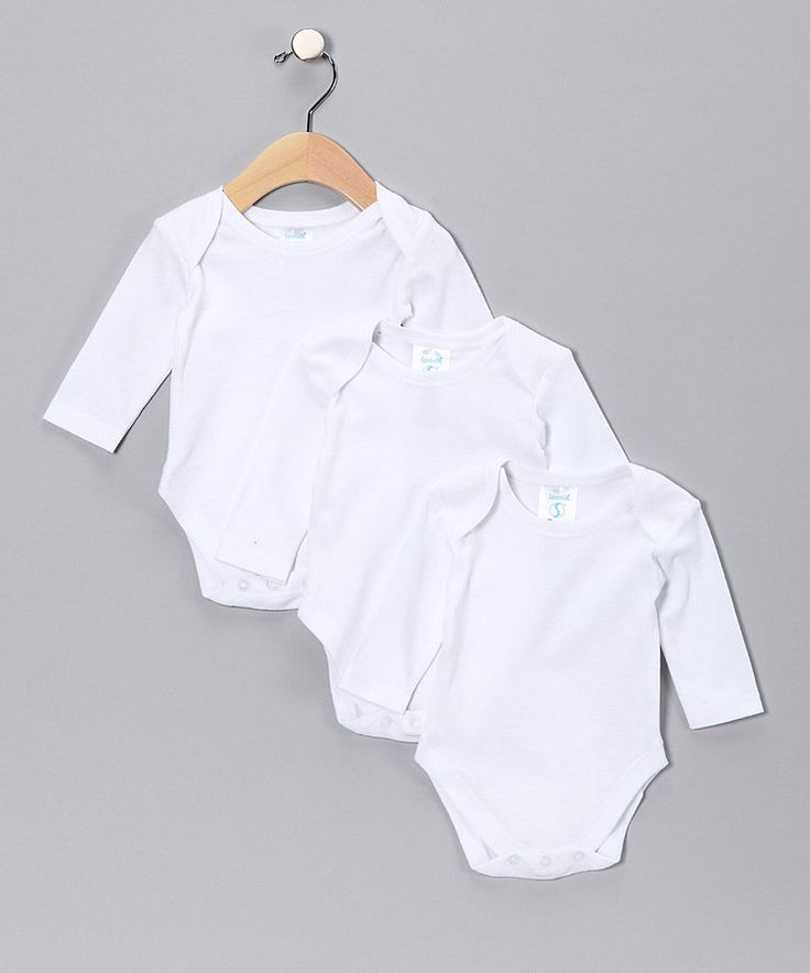Take a look at this White Long-Sleeve Bodysuit Set - Infant today!