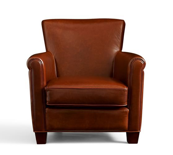 Irving Leather Armchair: Reflexology Path Images On