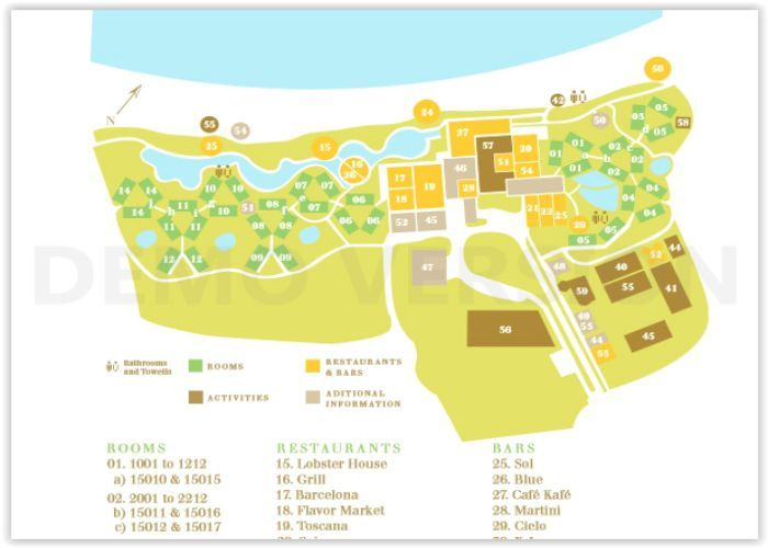 Image Result For Map Of Excellence Punta Cana