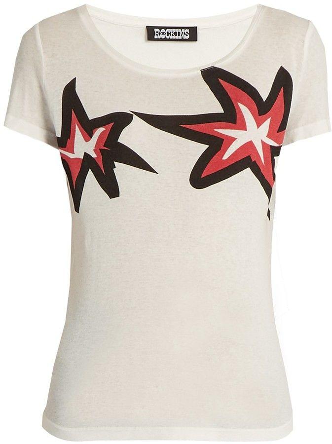 ROCKINS Stars-print short-sleeved cotton T-shirt