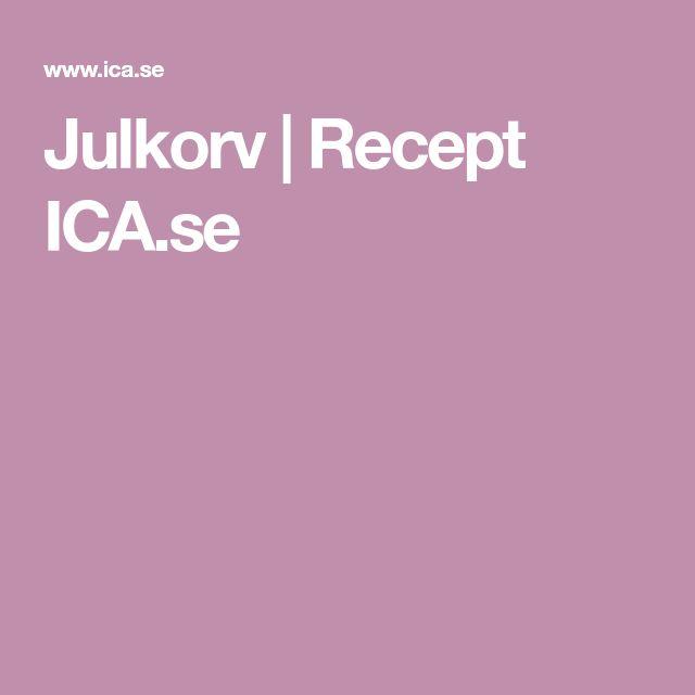 Julkorv | Recept ICA.se