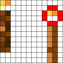 Minecraft 2 Perler Bead Pattern / Bead Sprite