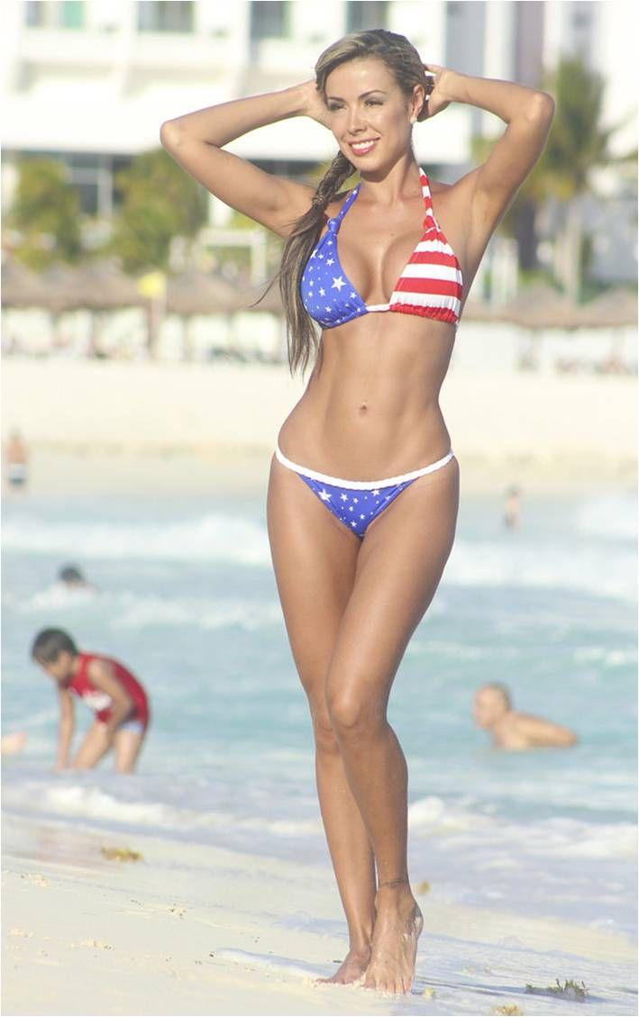 Patriotic thong bikini