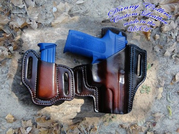 Feel free to contact me if you would like to have a custom holster made. SIG P2022 holster, custom holster, pancake holster, custom holster, leather holster.
