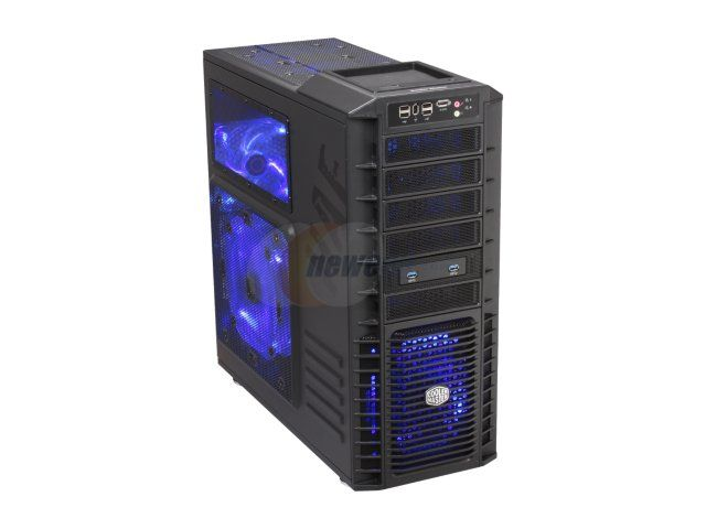 Newegg.Com - Cooler Master HAF 932 Advanced Blue Edition - High Air Flow Full Tower Computer Case with USB 3.0 and All-Black Interior