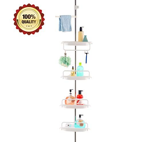 Homehelper Tension Corner Shower Caddy Rustproof Stainless Steel